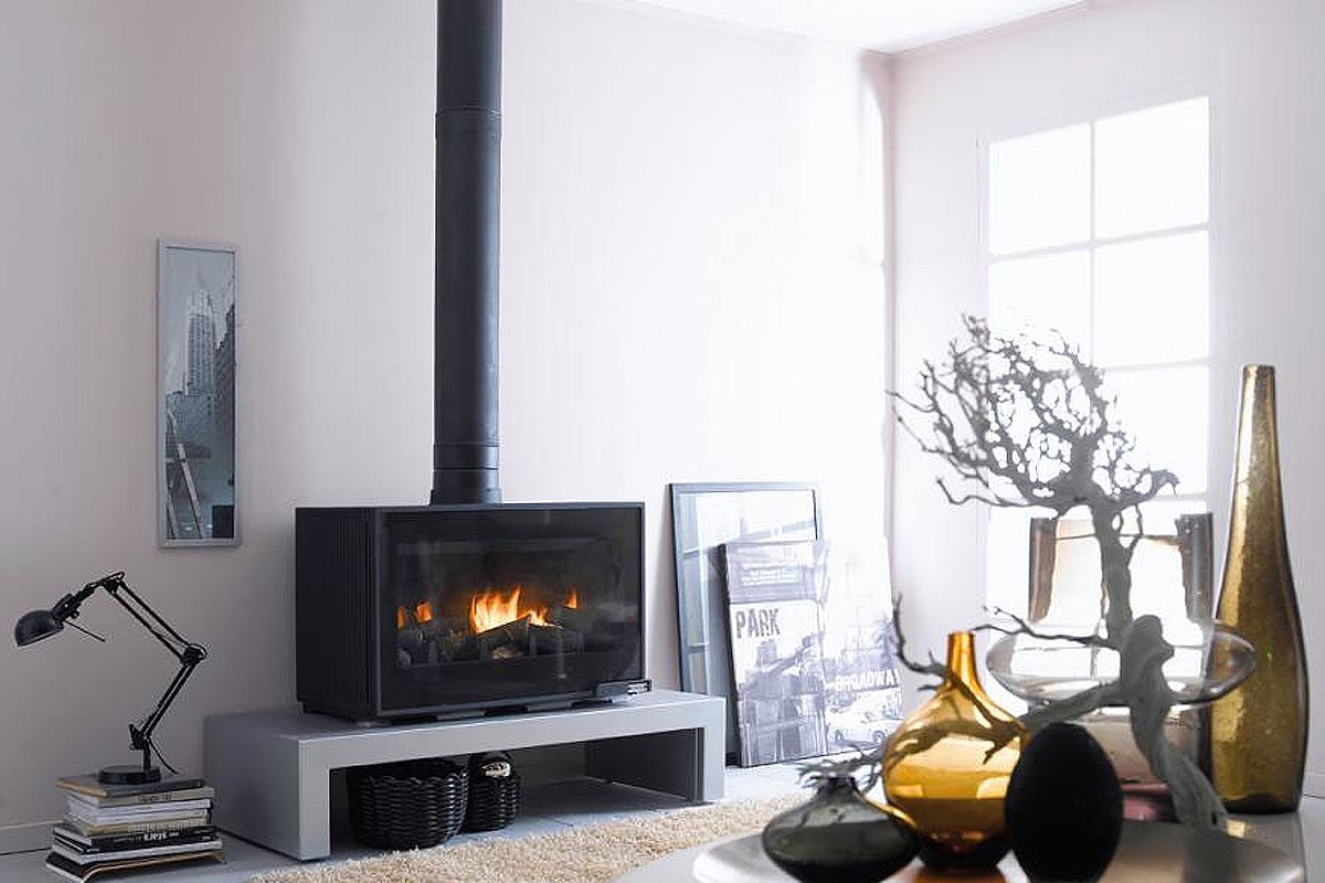 Cheminees Philippe Horama freestanding fireplace