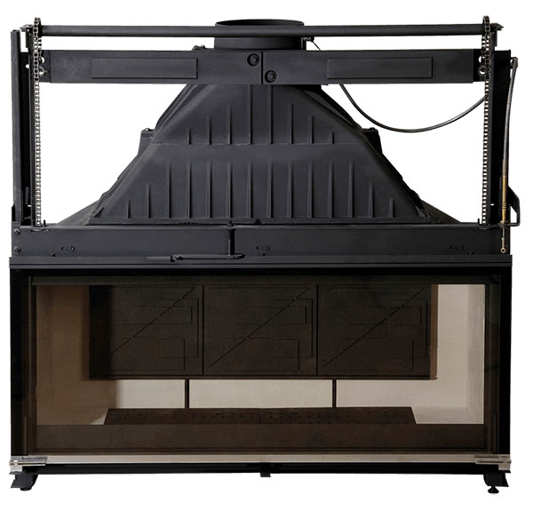 Cheminees Philippe Radiante 1200 firebox Wood Fireplace