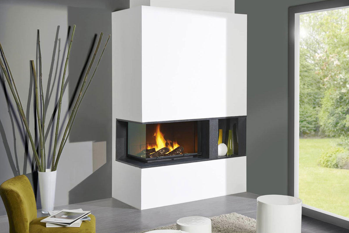 Cheminees Philippe Radiante 747 2V Fireplace.