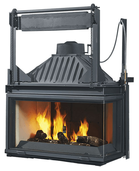 Cheminees Philippe  Radiante 873 2v PR wood fireplace