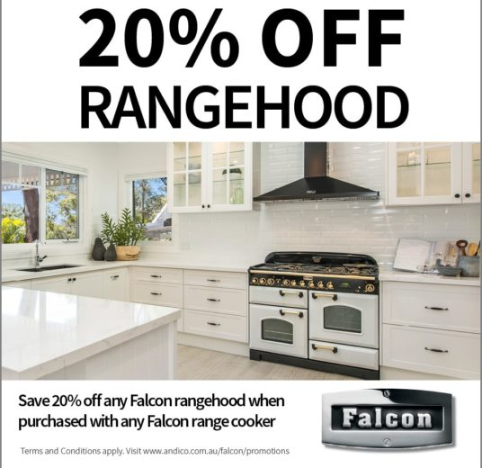 Falcon Oven sale - 20% off Rangehood with Falcon Oven