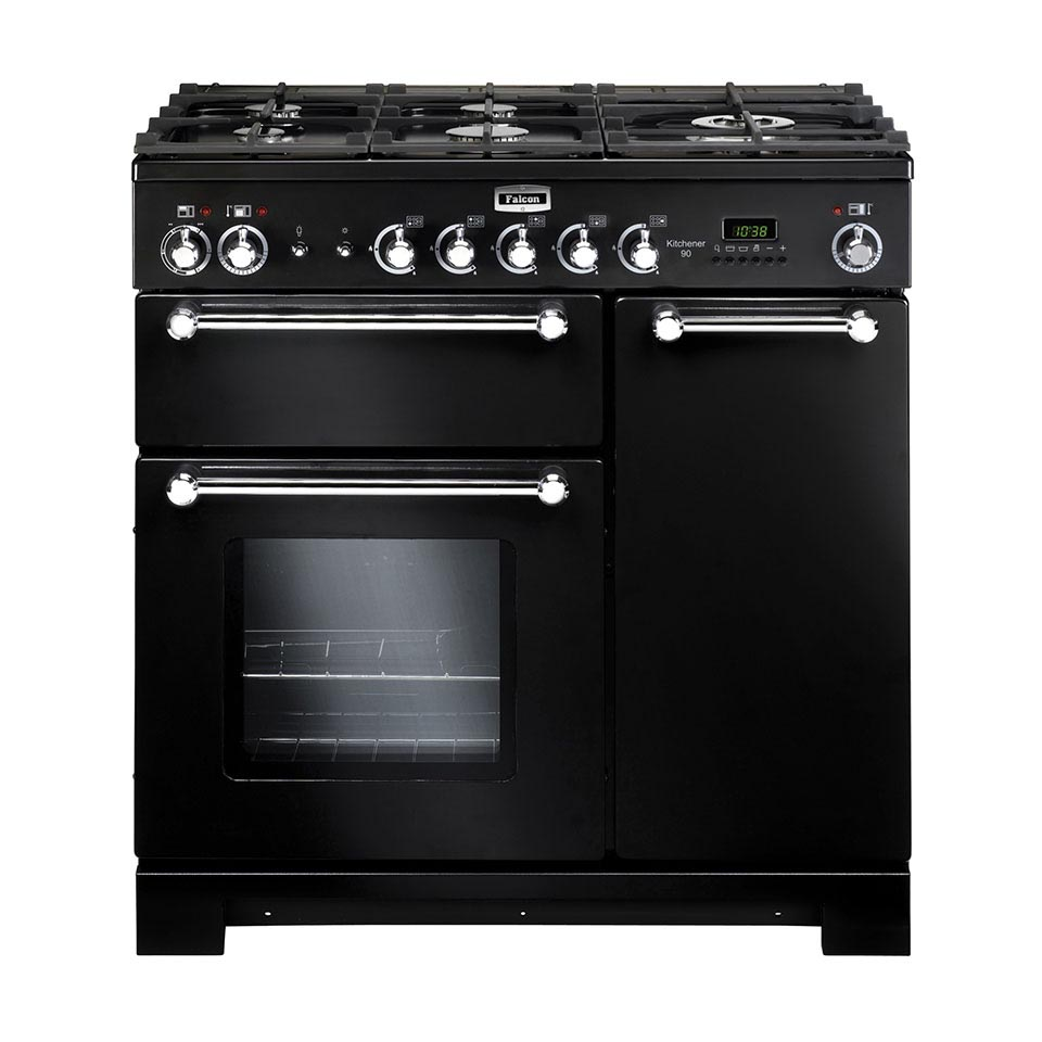 Falcon Kitchener 90cm dual fuel Oven black