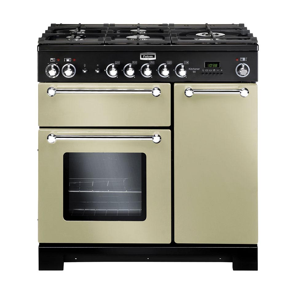 Falcon Kitchener 90cm dual fuel Oven cream