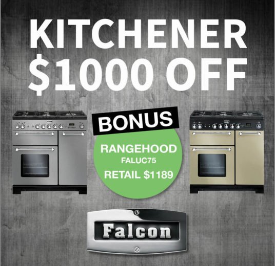 Falcon Oven sale - Save $2189 Kitchener + 75cm Rangehood