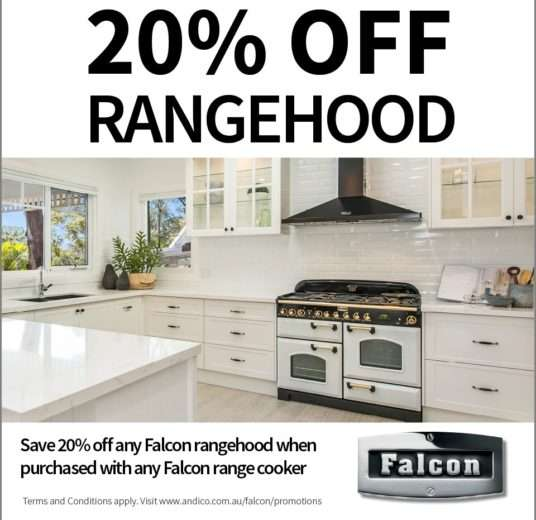 20% Off Rangehood with any new Falcon Oven