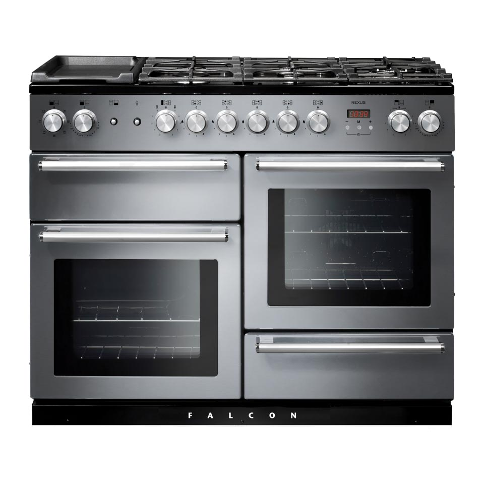 Falcon Nexus 110cm Dual Fuel Oven stainless steel