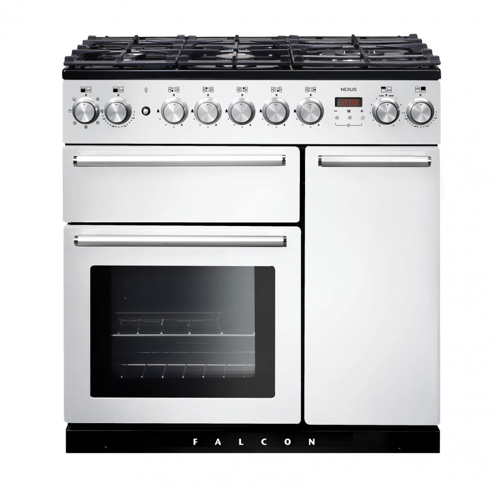 Falcon Nexus 90cm Dual Fuel Oven white