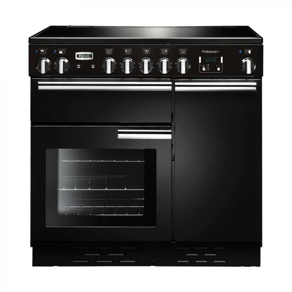 Falcon Professional+ 90cm Induction Black Oven