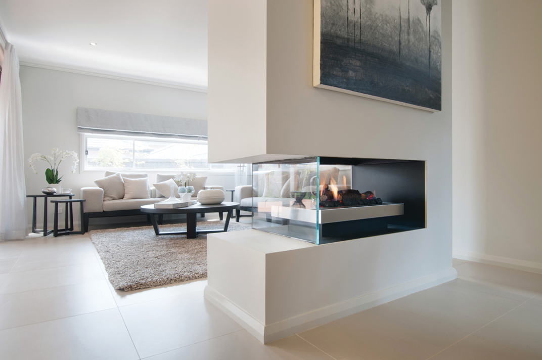 Real Flame Gas Fireplace Double Vision