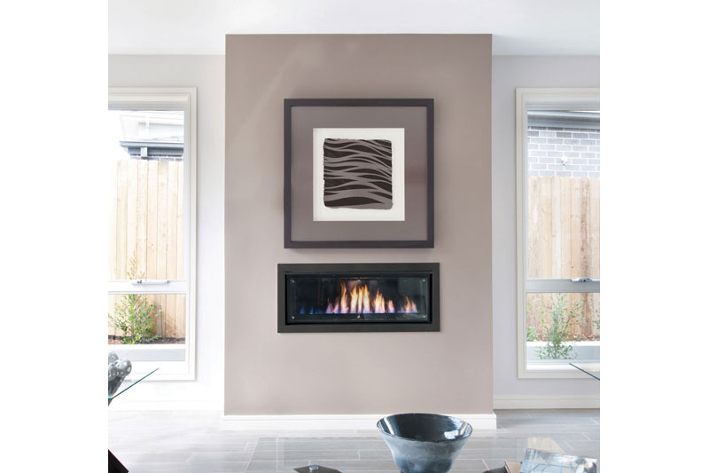 Real Flame Gas Fireplace Landscape