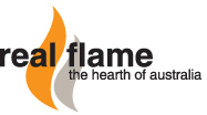Real Flame Gas fireplaces logo