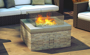 Real Flame gas fireplace Pit Fire